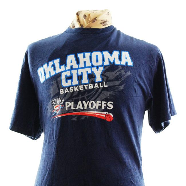 close up of Oklahoma City Basketball T Shirt
