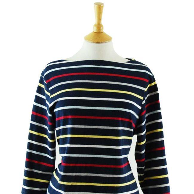 close up of Rainbow Long Sleeve Tee Shirt