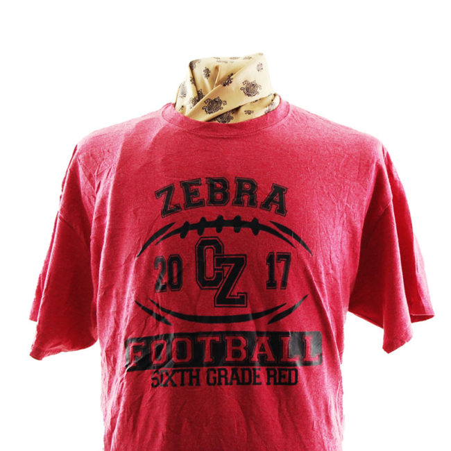 close up of School Football T Shirt