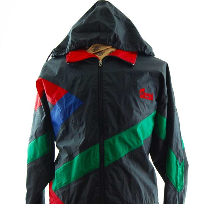 close up of Vintage Anuy Windbreaker Jacket