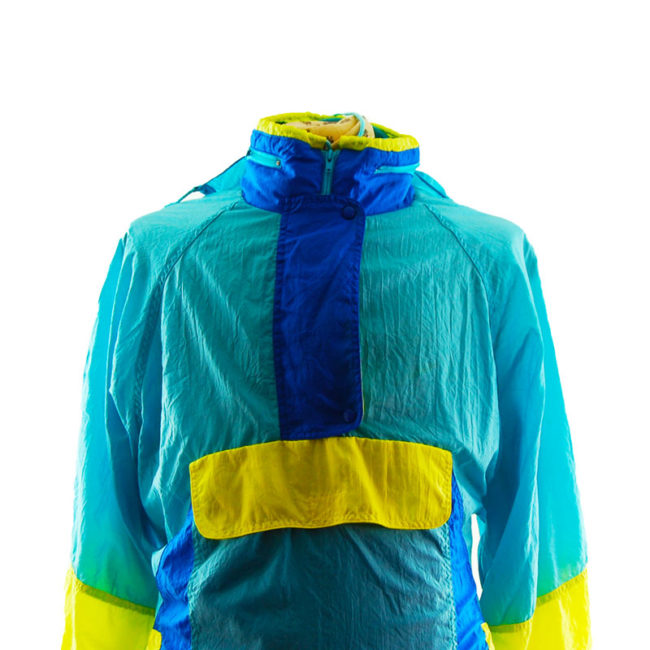 close up of Vintage Colour Block Windbreaker Jacket