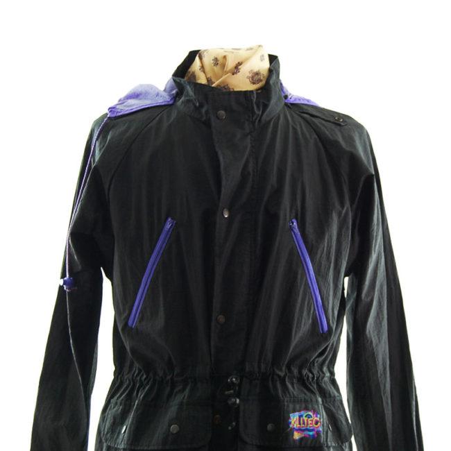 close up of Vintage Killtec Windbreaker Jacket