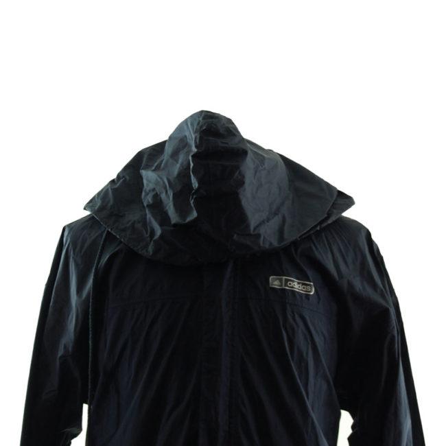 hood of Adidas Black Windbreaker Jacket