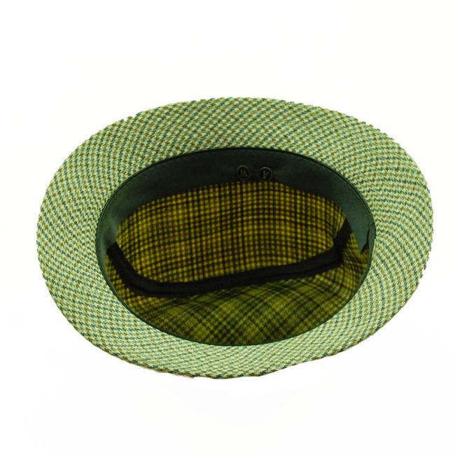inside of 80s Mens Tweed Homburg Style Hat