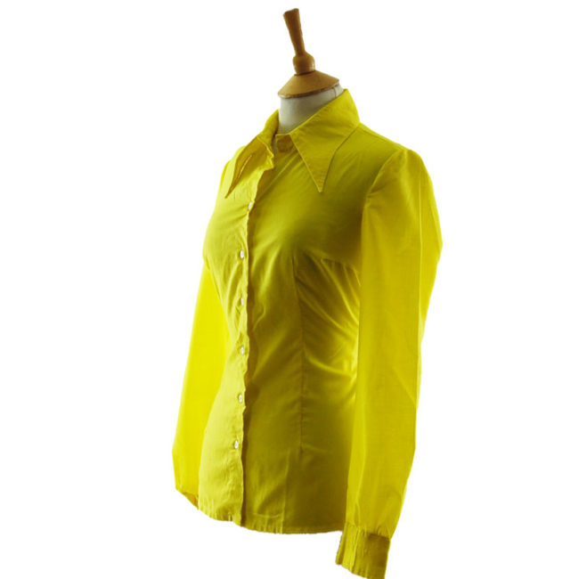 side of 70s Louis London Vibrant Yellow Blouse