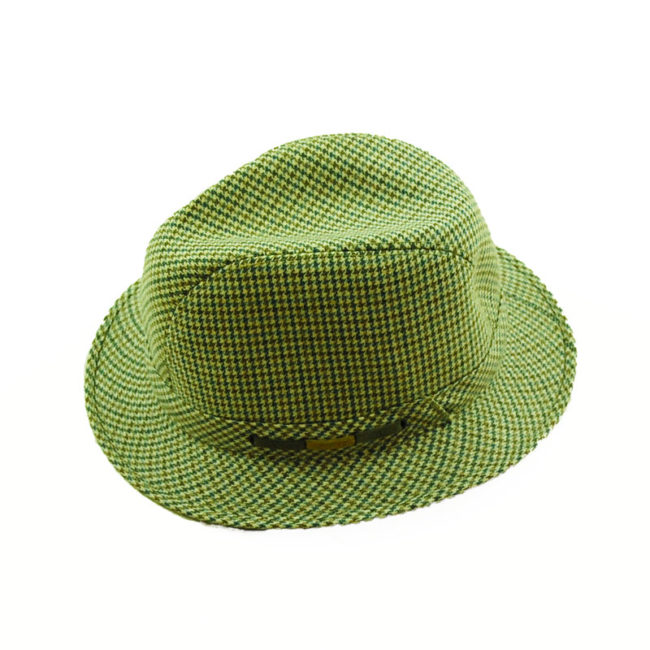 side of 80s Mens Tweed Homburg Style Hat