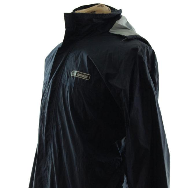 side of Adidas Black Windbreaker Jacket