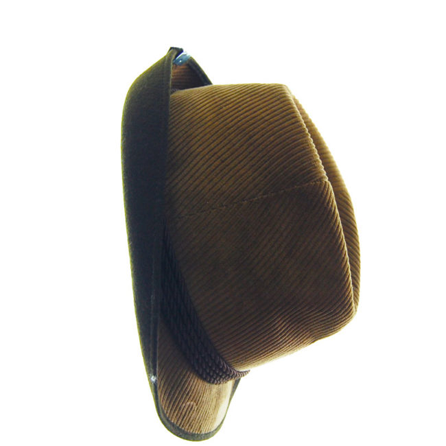 side of Mens Velvet Cord Austrian Style Hat