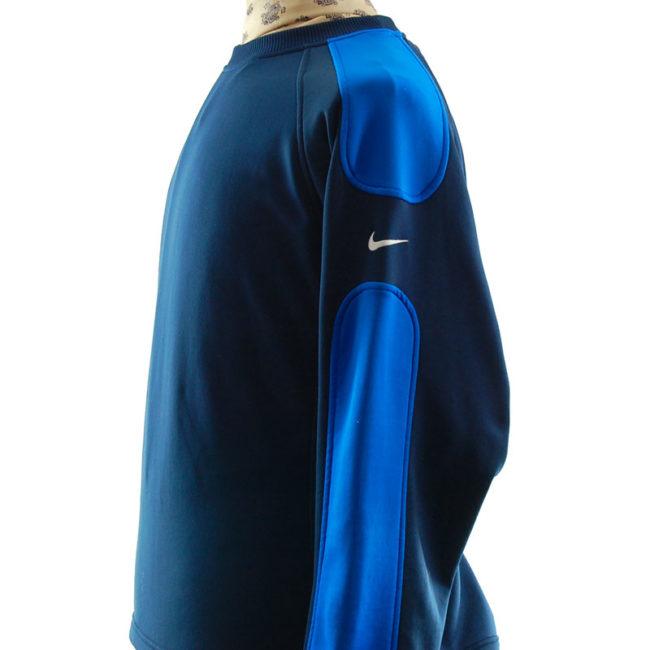 side of Nike Oversized Navy Blue Sweater