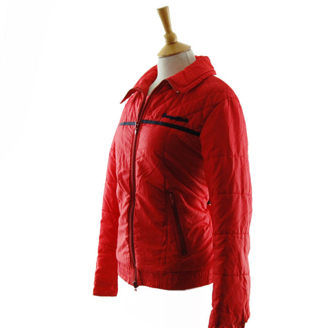 side of Vibrant Red Skiing Jacket