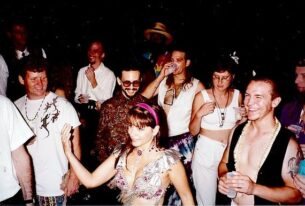 90s clothing - Party in Uptown New Orleans, 1991