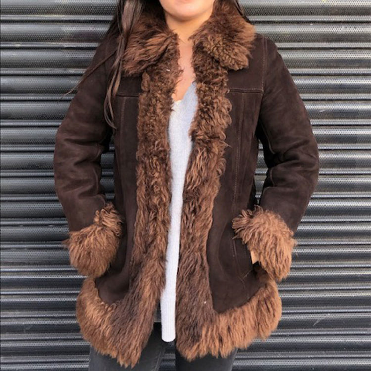 70s Afghan Inspired Sheepskin Jacket