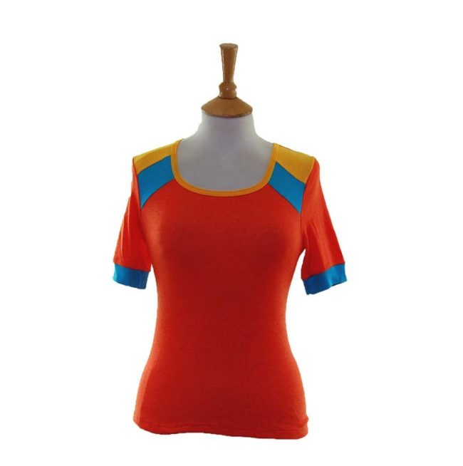70s Dead Stock Orange Tee Shirt