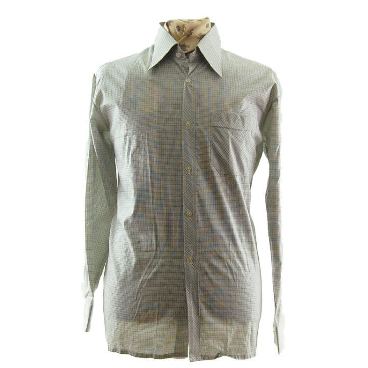 70s Mens Small Check Shirt