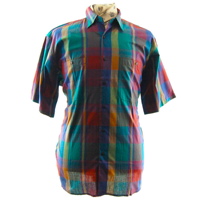 70s Vintage Colour Splash Shirt