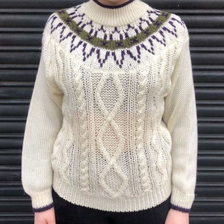 80s Vintage Cable Knit Jumper