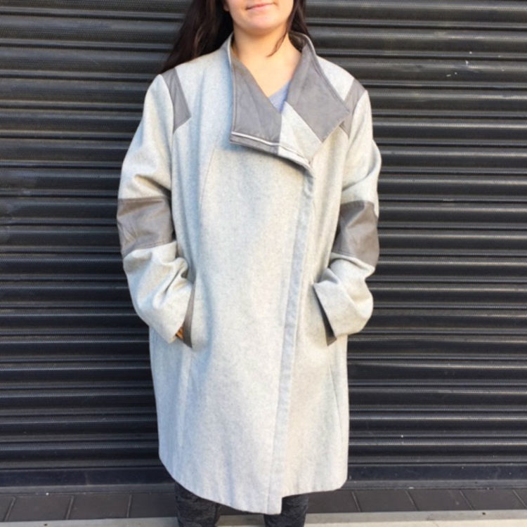 Calvin Klein Asymmetrical Coat