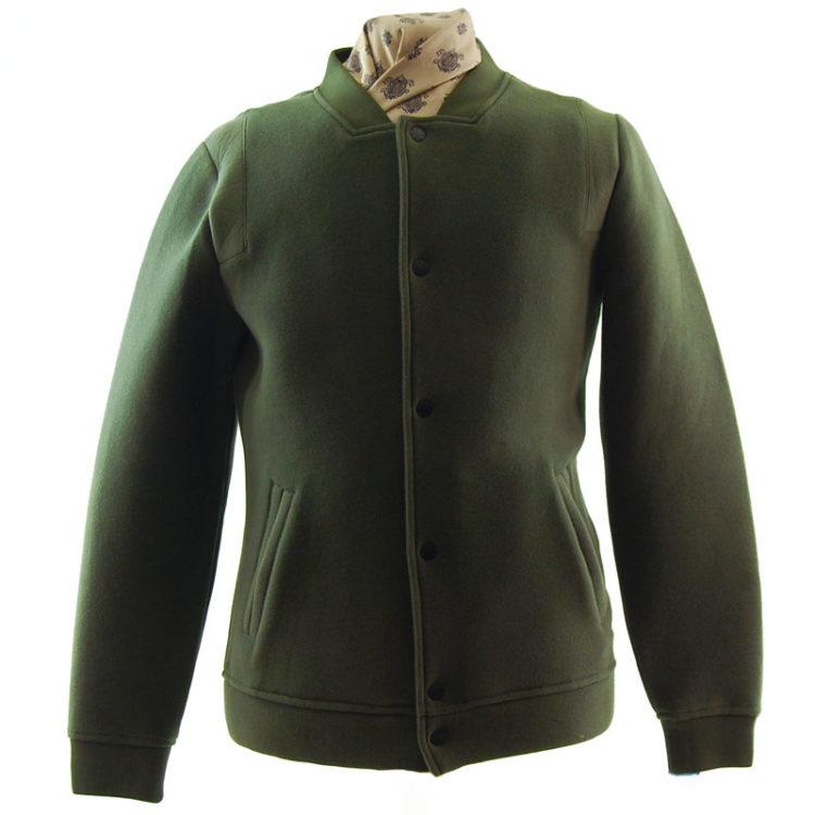 Capsize Attire Green Baseball Jacket