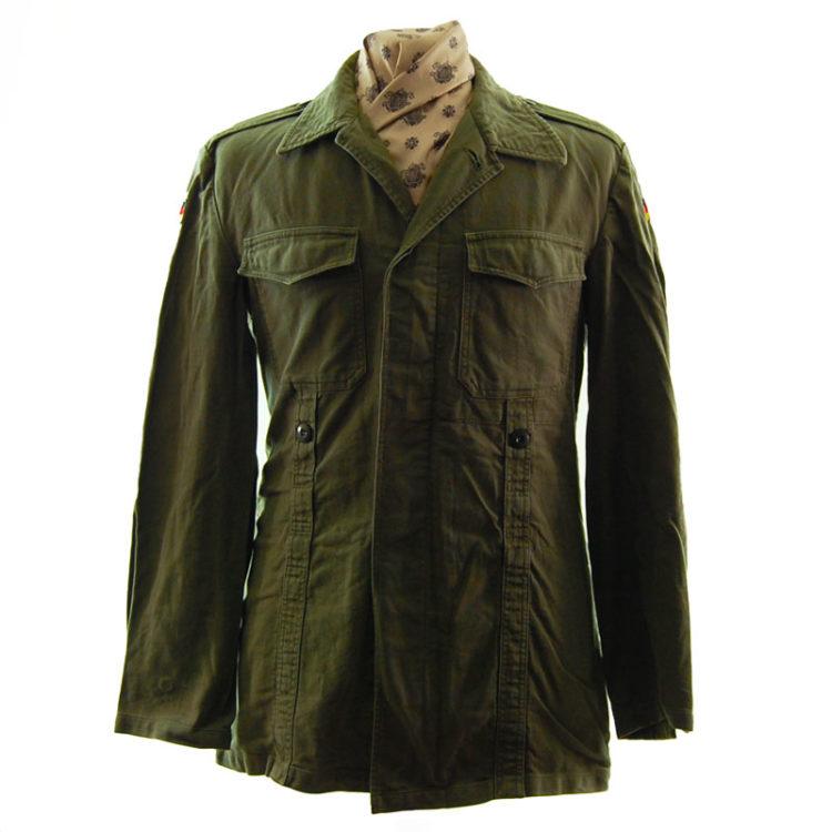 German Plain Green Military Jacket