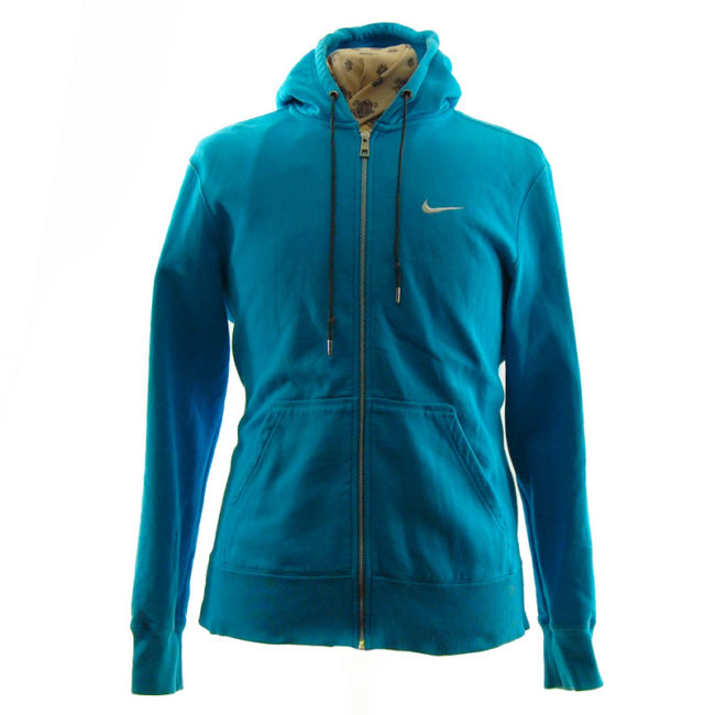 Nike Turquoise Block Colour Hoodie