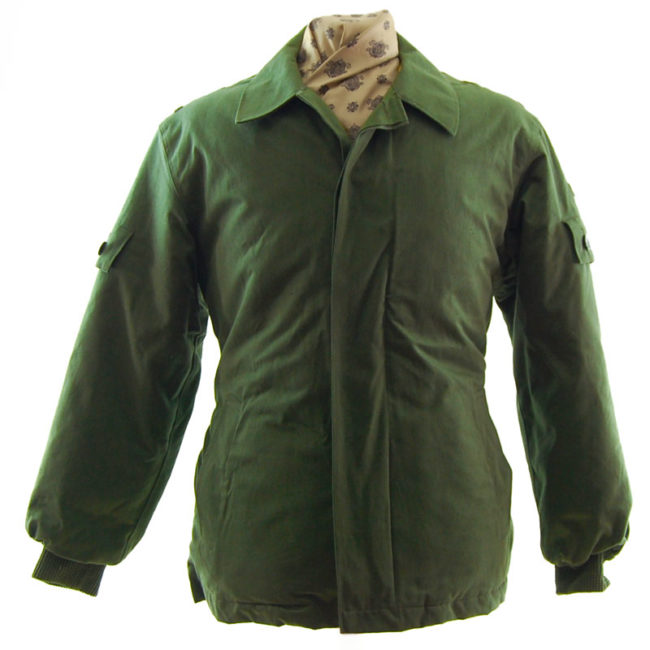 Padded Olive Green Military Jacket