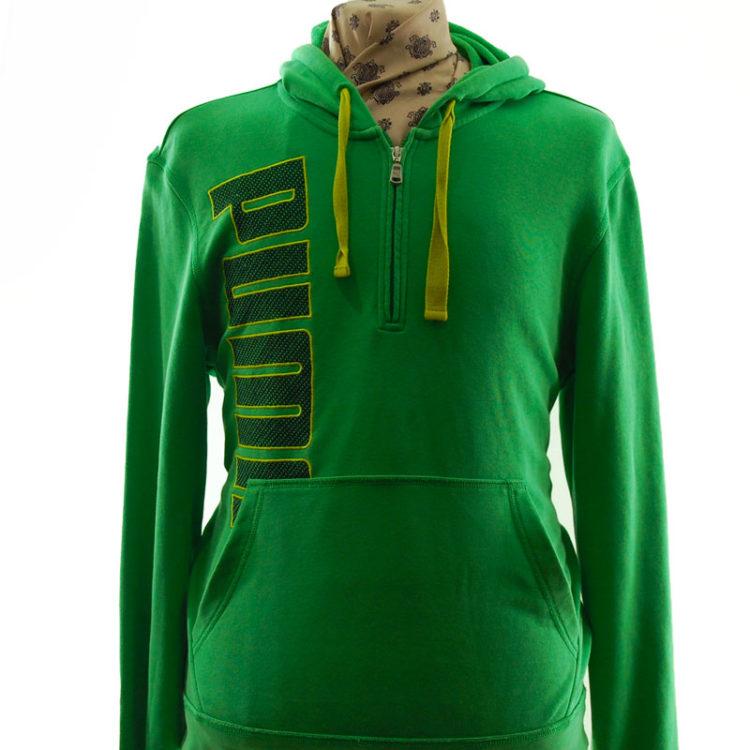 Puma Green Quarter Length Zip Hoodie