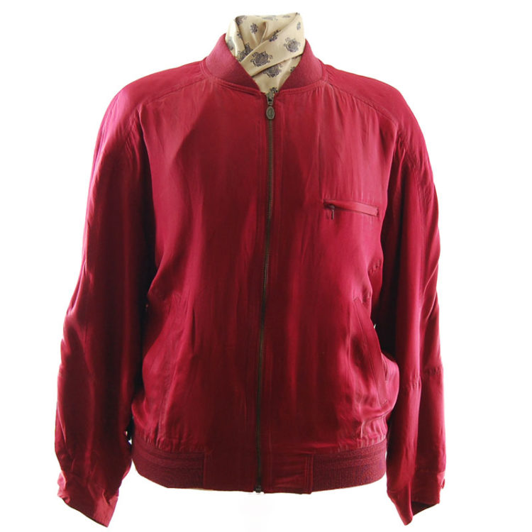 Redpoint Red Silk Bomber Jacket