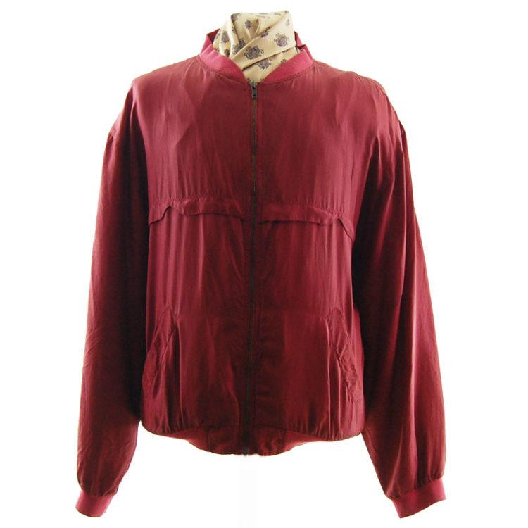 Ree Marc Silk Bomber Jacket