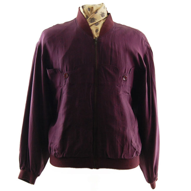 Smooth Collection Burgundy Bomber Jacket