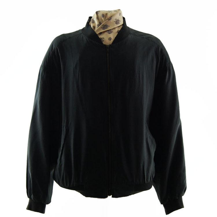 Space Grey Silk Bomber Jacket