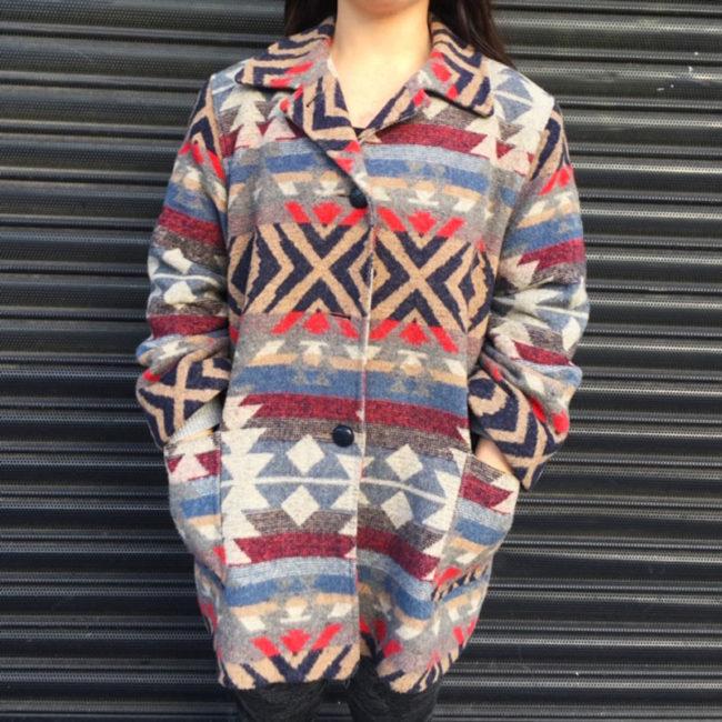 Womens Aztec Print Winter Coat