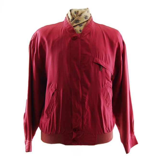 Yorn For Men Pink Bomber Jacket