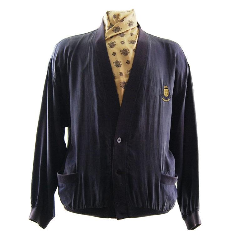 Yorn For Men Purple Bomber Jacket