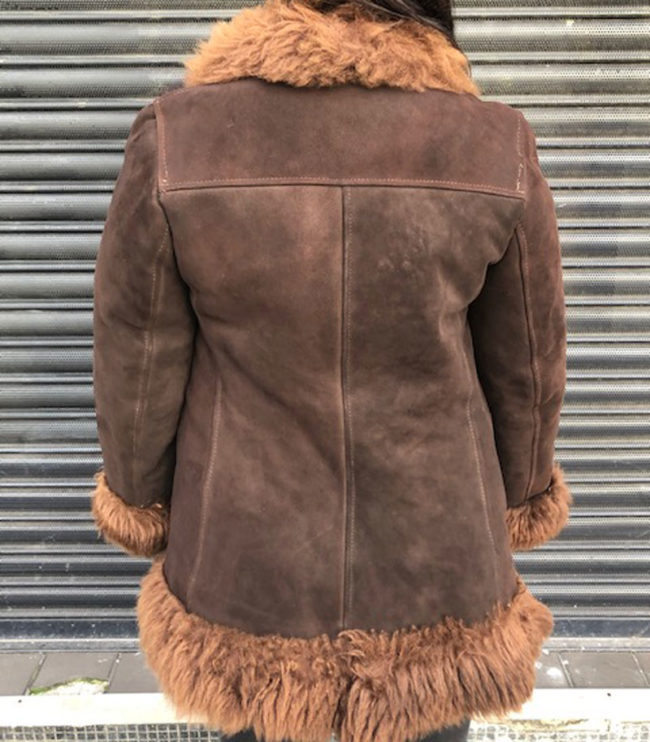 back of 70s Afghan Inspired Sheepskin Jacket