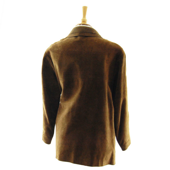 back of 70s Vintage Suede Jacket