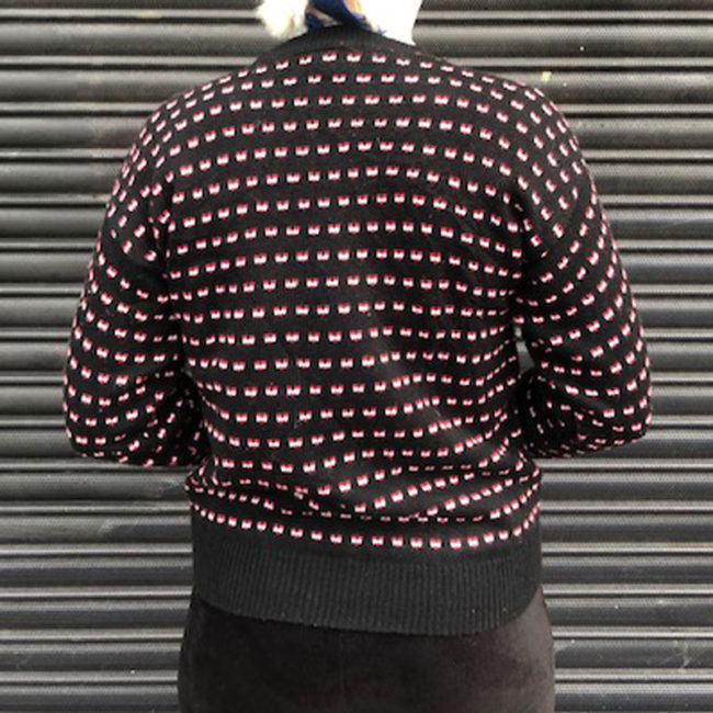 back of 80s Womens Vintage Animal Jumper