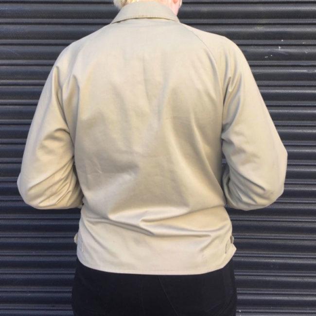 back of Burberry Beige Jacket