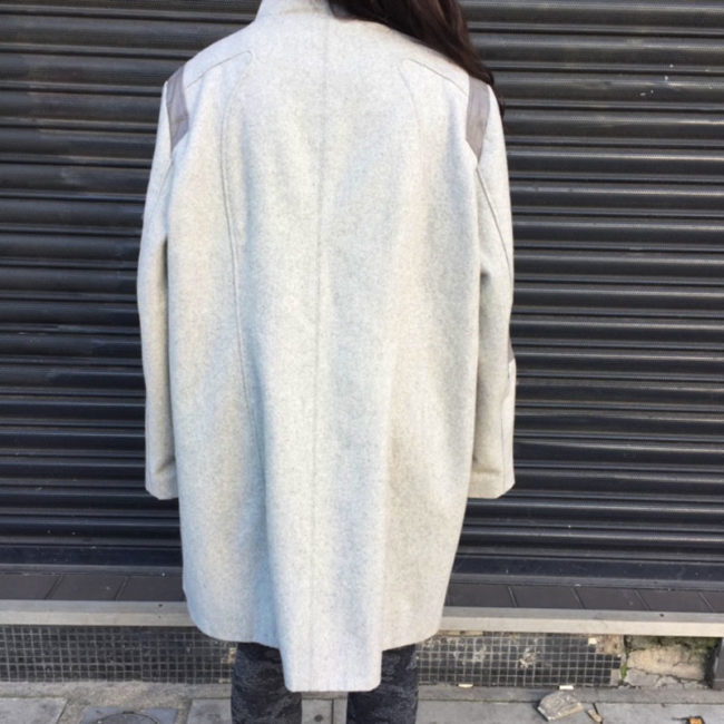 back of Calvin Klein Asymmetrical Coat