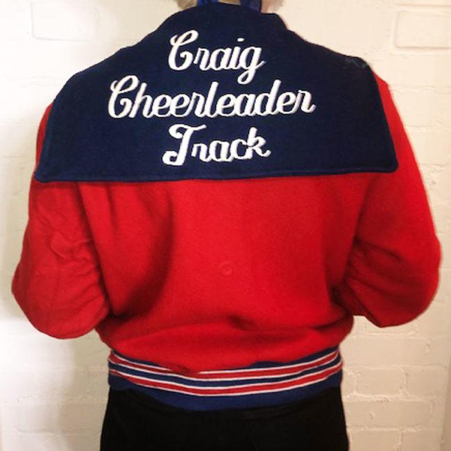 back of High School Baseball Jacket