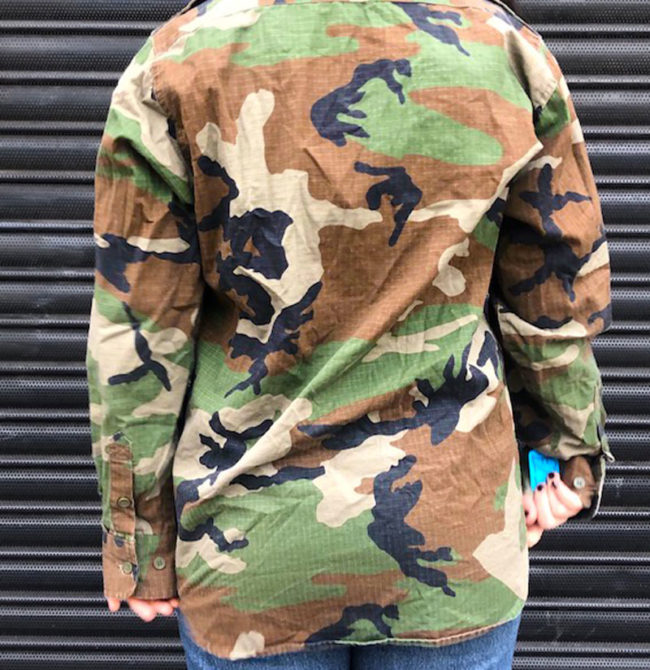 back of Mil Tec Camouflage Hunters Jacket