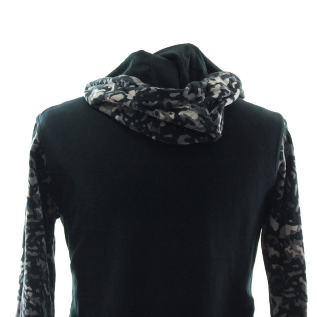 back of Nike Grey Camouflage Hoodie