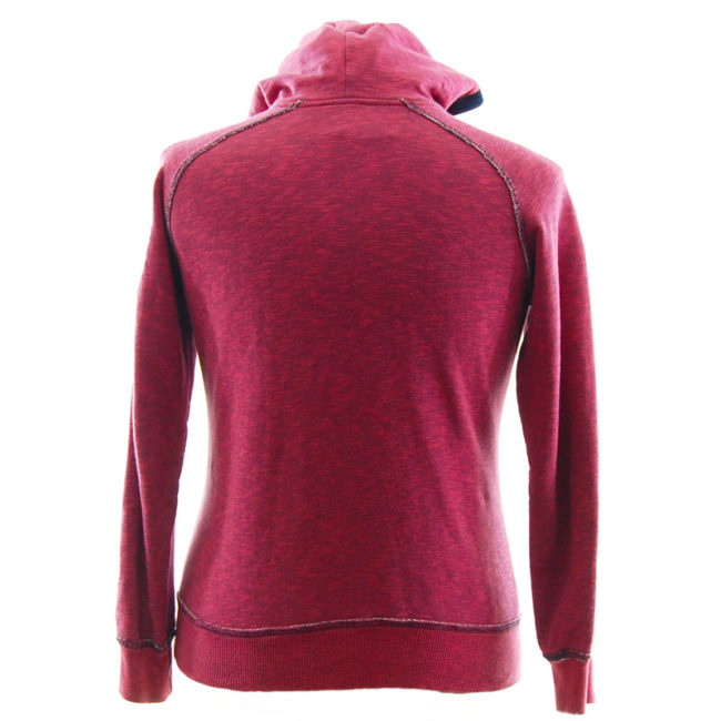 back of Nike Pink Raw Hem Hoodie