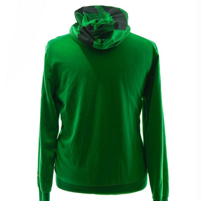back of Puma Acid Green Hoodie