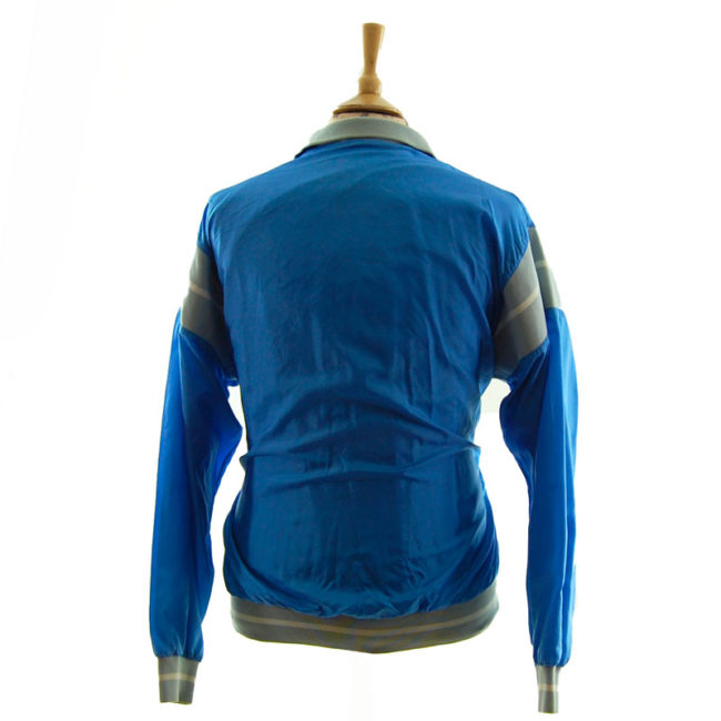 back of Puma Baby Blue Windbreaker Jacket