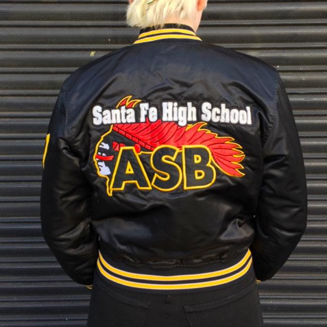 back of USA High School Baseball Jacket