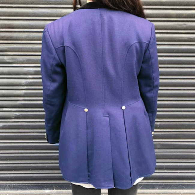 back of Womens Navy Blue Pikeur Equestrian Jacket