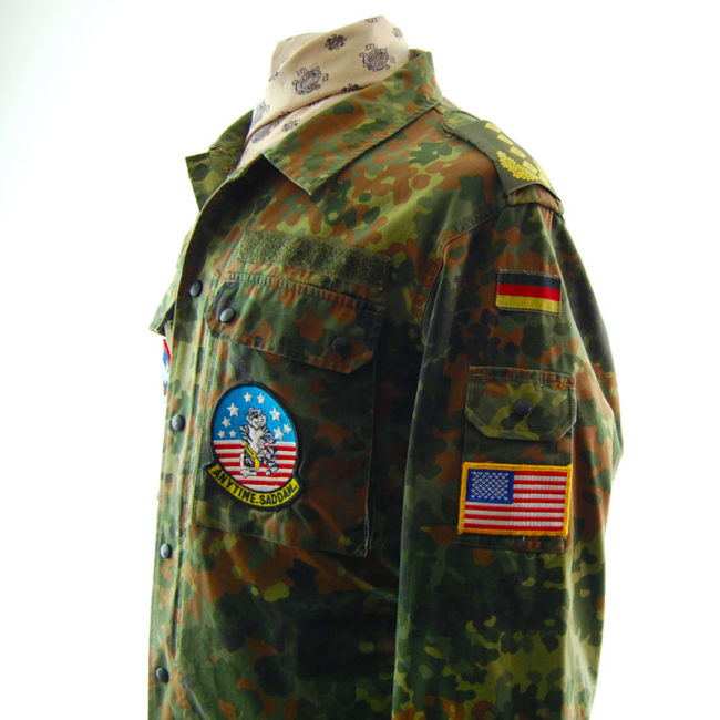 close side of 1996 Flecktarn Camouflage Jacket