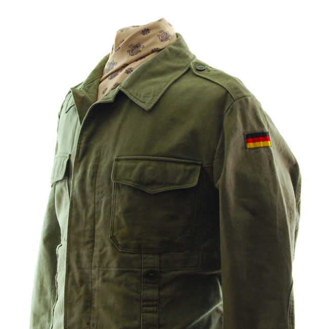 close side of Army Green German Military Jacket