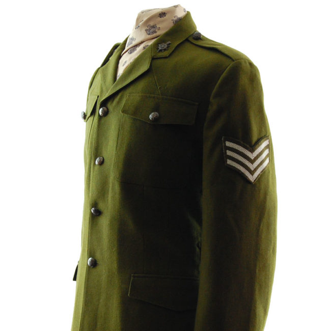 clse side of British Dress Army Jacket