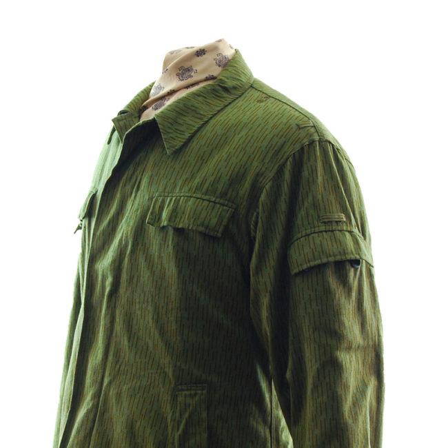close side of East German Rain Camouflage Jacket